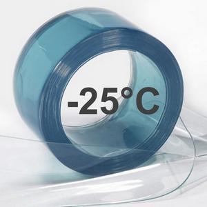 LANIERES PVC TRANSPARENT GRAND FROID - Lamelle PVC spéciale pour l'univers du froid négatif