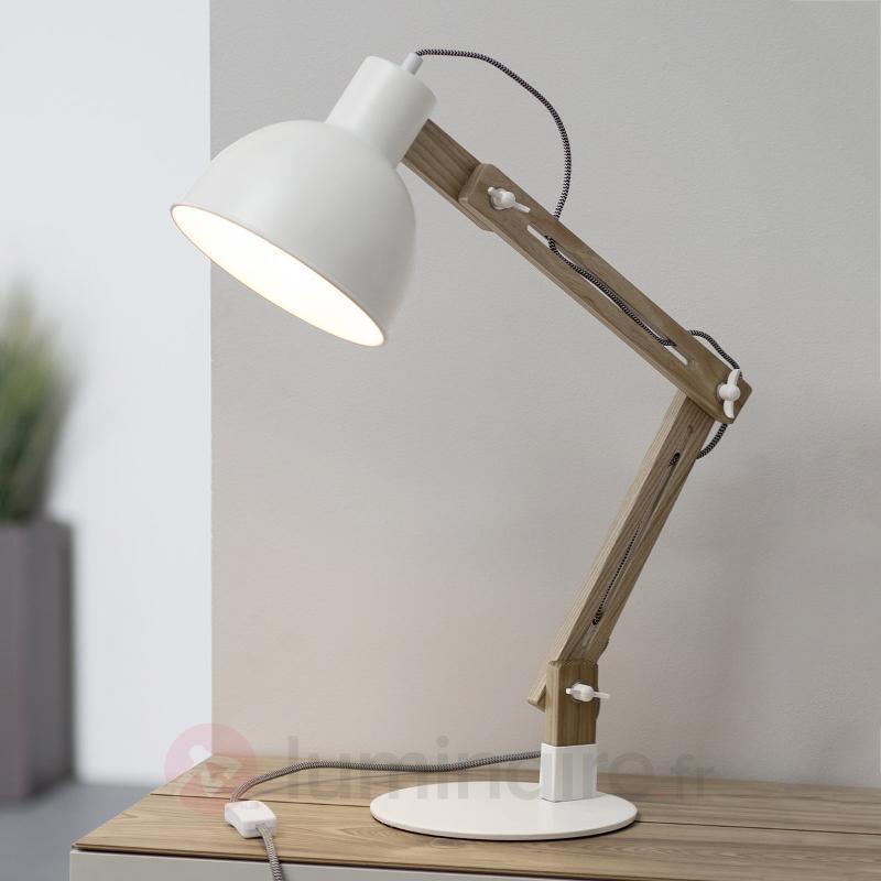 Lampe de bureau Elias en bois et métal - Lampes de bureau