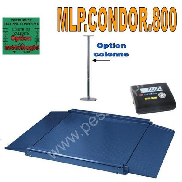Balance industrielle 600Kgs/ 100grs - Balances au sol (ACIER et INOX)