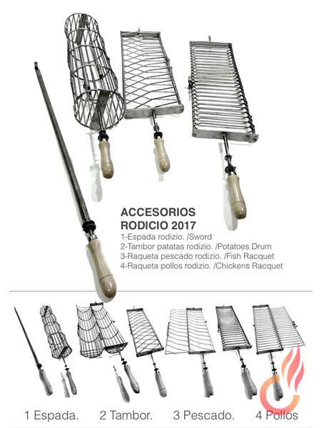 Espadas y Jaulas para Rodizío - Diferentes modelos de espadas y jaulas para Rodizios
