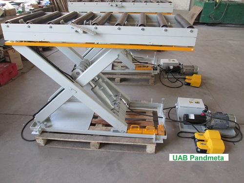 Scissor hydraulic table - Roller desks