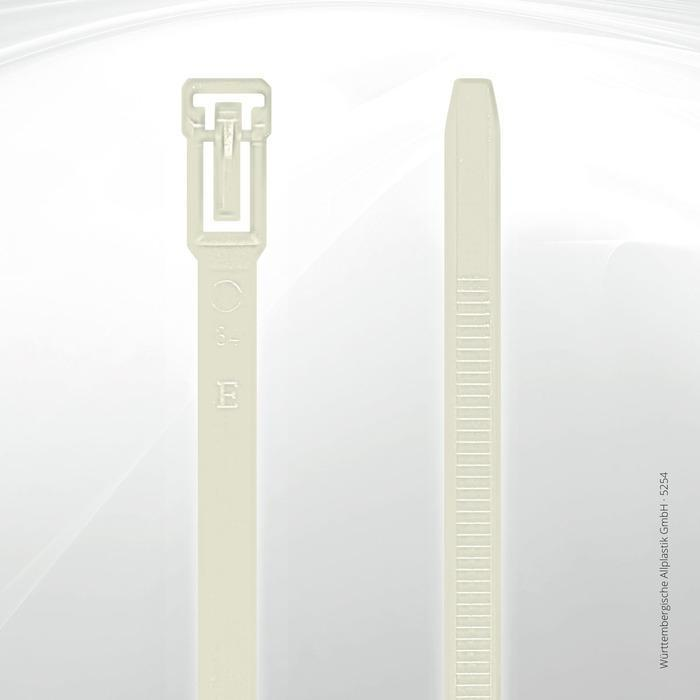 Allplastik-Kabelbinder® cable ties, can be reopened - 5254 (natural)
