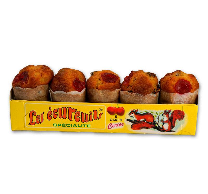 BARQUETTE DE 5 CAKES A LA CERISE box 120 - Épicerie sucrée