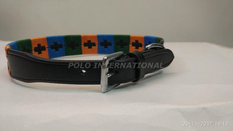 Polo dog collar - leather dog collar