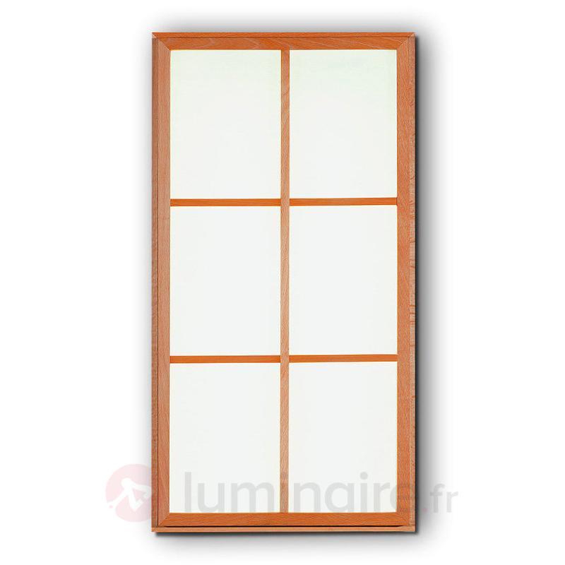 Plafonnier et applique rectangulaire Kioto 6 - Plafonniers en bois