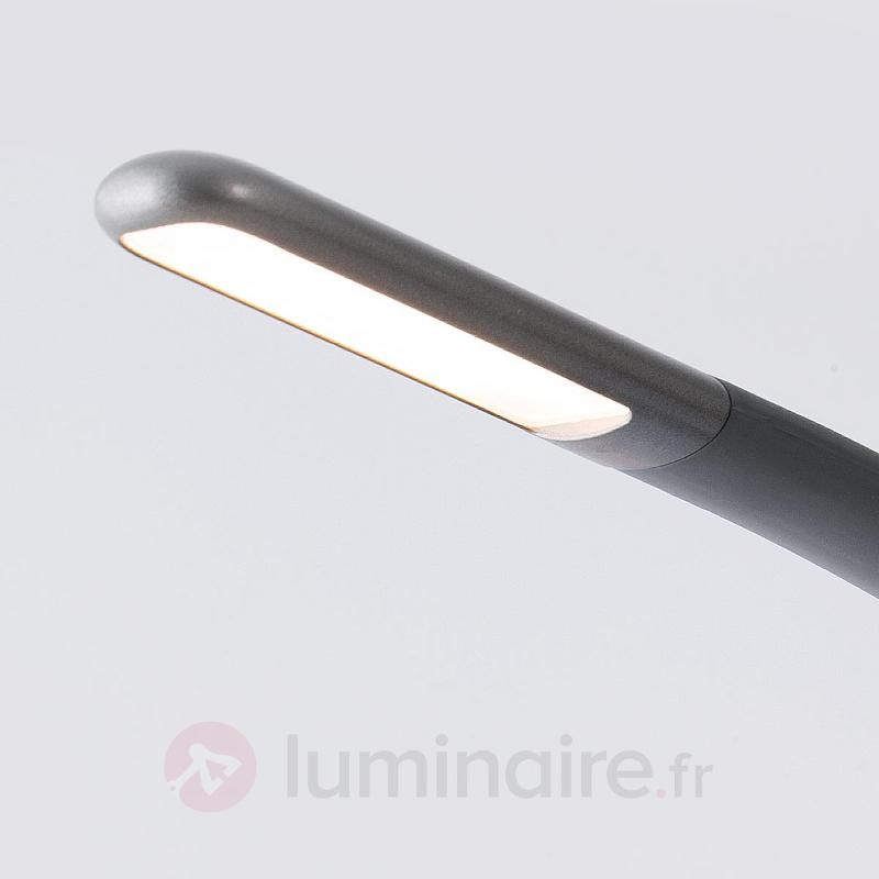 Lampe à poser LED Greta variable en gris foncé - Lampes de bureau LED