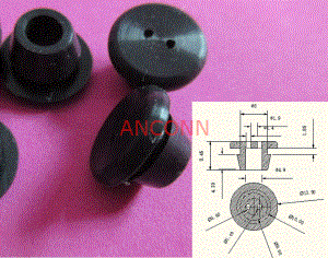 silicone cap - 9.2mm hardware cap with lock sleeve 9 mm 9.2 mm silicone cap