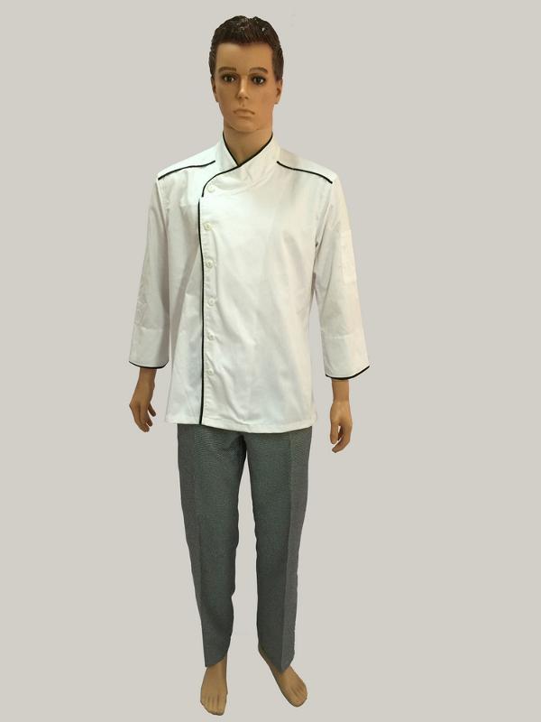 CHEF UNIFORM - Man chef jacket 1 tool pocket on left sleeve