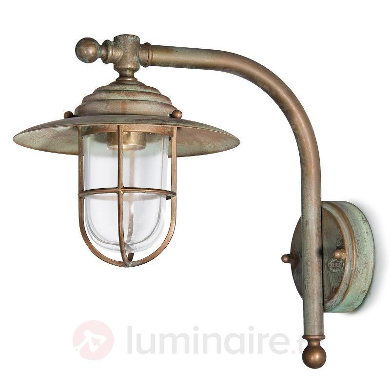 Élégante applique Bruno au design antique - Appliques d'extérieur cuivre/laiton