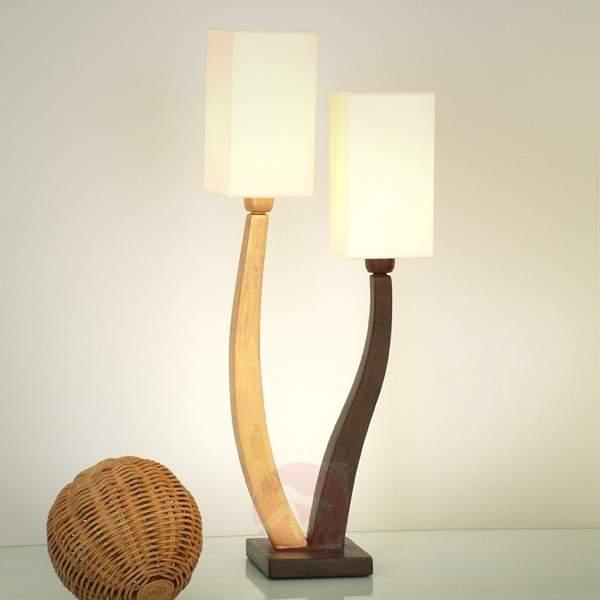 Beautiful table lamp QUADRANGOLARE - gold 2-bulb - Window Sill Lights