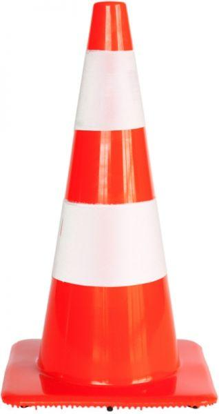 Cone soft pvc 2 reflective stripes H 75 cm - SIKEL04R
