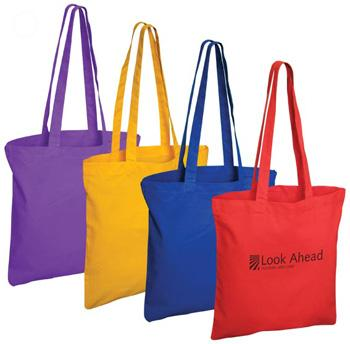 TRADESHOW COTTON EXHIBITION BAG SHOPPER WITH LONG HANDLES