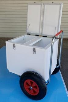 Trolley isotherme pour commerce ambulant - Convient au commerce sur plage, festival, ainsi qu'en milieu urbain.