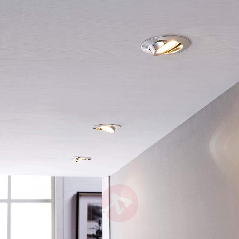 Three LED recessed lights Andrej in chrome - indoor-lighting