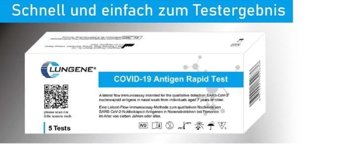 Covid-19 Clongene-Selbsttest/Covid-19 Clongene self-test - Antigen Selbsttest für Laien / Rapid antigen test for laypeople