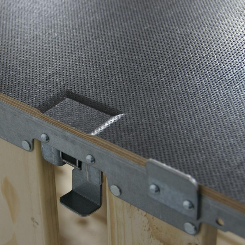 Holzdeckel mit 4 Klemmen - null