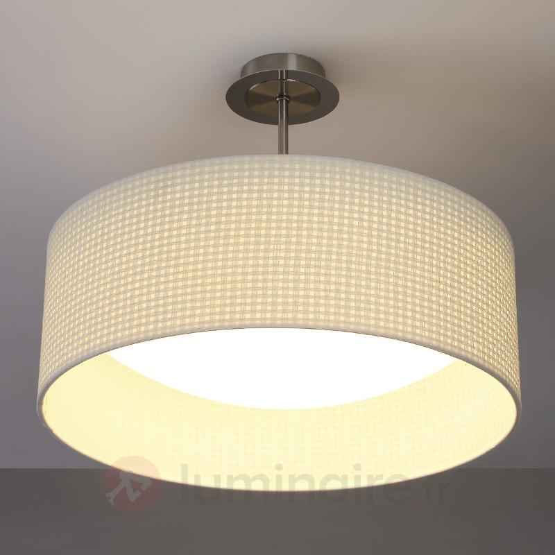 Plafonnier en tissu beige Cillian à LED - Plafonniers en tissu