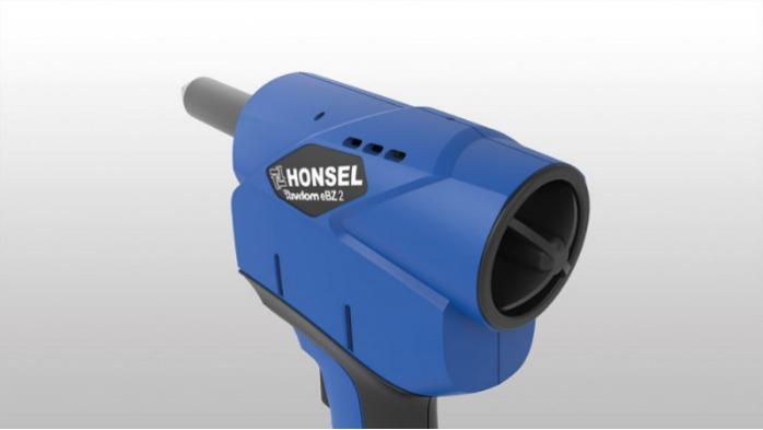 Honsel Rivdom eBZ 2 - Riveteuse sur batterie pour rivets aveugles jusqu'à 6,4 mm - tous matériaux