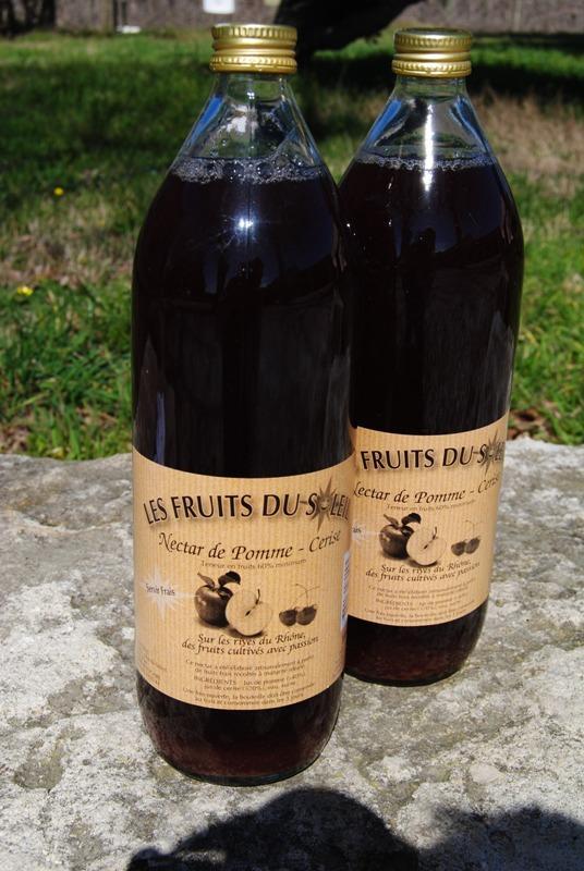 NECTAR DE POMME-CERISE DES SEVES ET DU SOLEIL 1L - Boissons