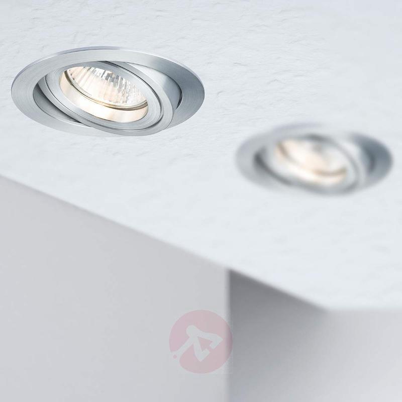 Round LV recessed light DRILA, 3 piece set - Low-Voltage Spotlights