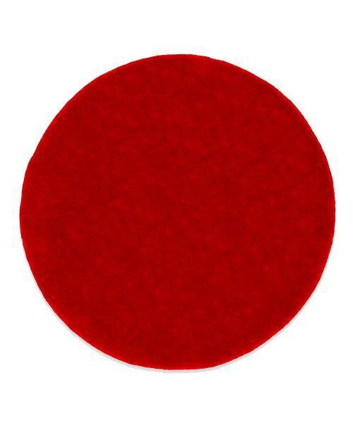 Felt Coaster - Round Beer Mat in red