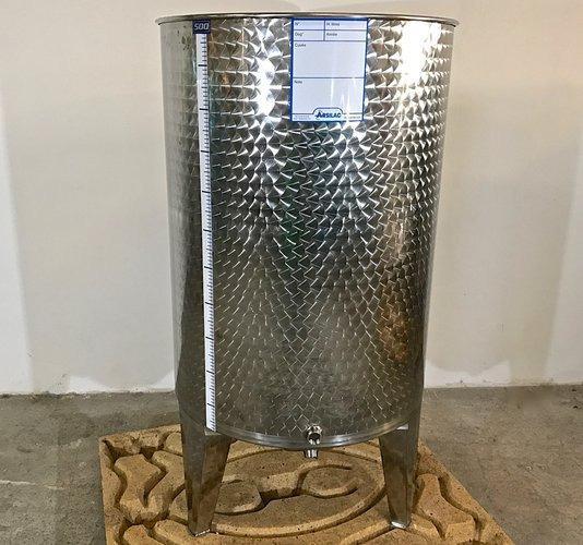 Depósito de acero inoxidable - 6 HL - Fondo curvo - Tapa flotante