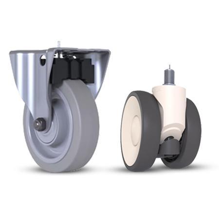 roulette fixe avec blocage de roue -