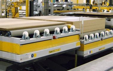 Inline lift platforms - Woodworking industry lifting table