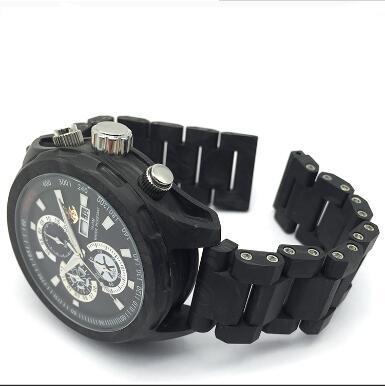 carbon fiber watch GCC18001 for German   - OEM miyota movement 100% real carbon firber mechanical watch manufacturer