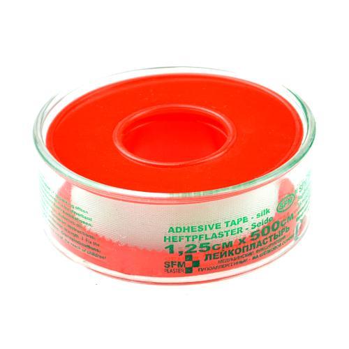 SFM Seide Heftpflaster  - auf Plastikschutzring in Cover 1.25cm x 5m (1)