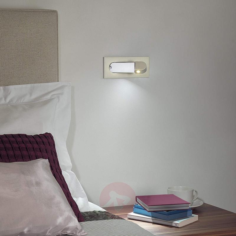 Digit LED Wall Light as Reading Light Nickel - design-hotel-lighting