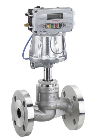 GEMÜ 532 - Válvula globo de assento reto de acionamento pneumático