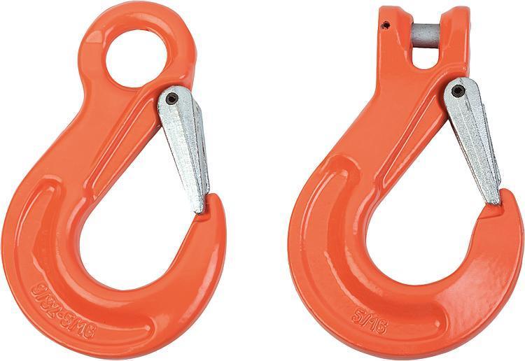 Crochet de charge classe 10 - Anneaux de levage fixes et pivotants, anneaux à broche autobloquante