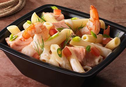 Penne au saumon et crevettes sauvages - Les préparations
