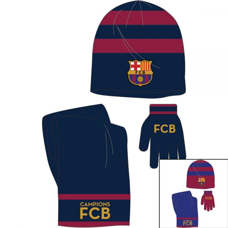 3x Echarpes et bonnets et gants Barcelone - Bonnet Gant Echarpe