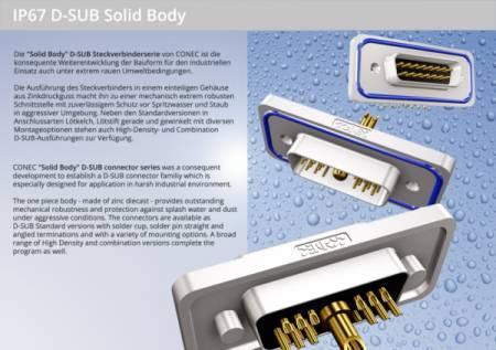 IP67 D-SUB Solid Body Steckverbinder - IP67 D-SUB Solid Body Steckverbinder