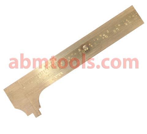 Brass Vernier Callipers - Sliding Gauge Brass - For quick check of odd bar,bolts & plate to avoid using digital vernier calliper