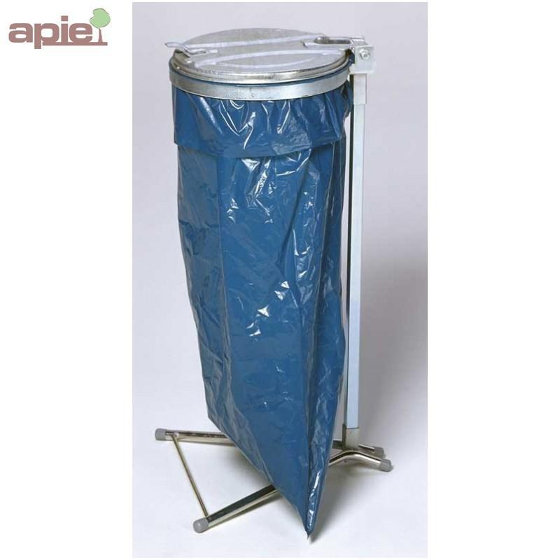 Support sac poubelle sur pieds  - Tri sélectif / COUVERCLE PLASTIQUE OU MÉTALLIQUE