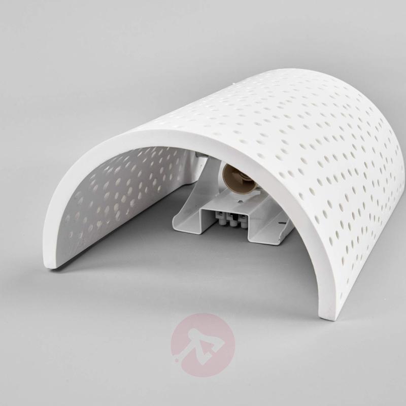 Jiru plaster wall lamp with pretty perforation - indoor-lighting