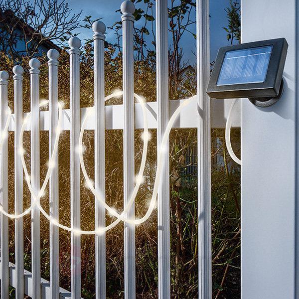 Tube lumineux de fête avec LED énergie solaire - Lampes solaires décoratives