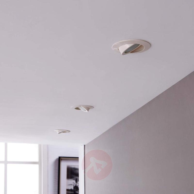 White LED recessed light Andrej in set of 3, round - indoor-lighting