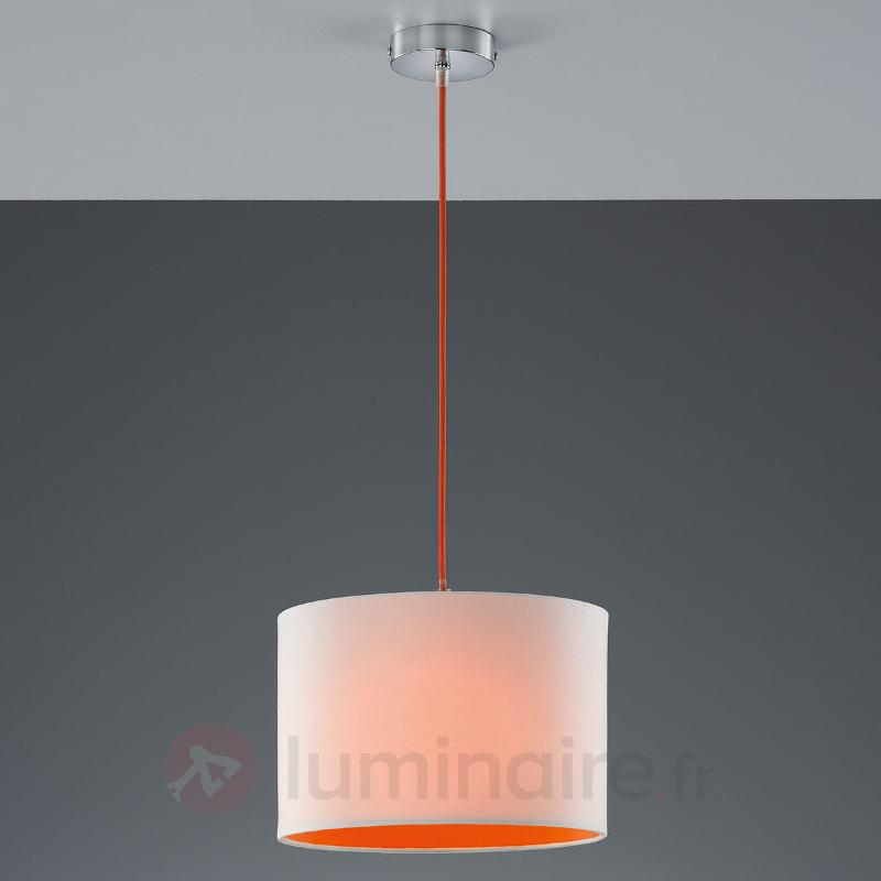 Suspension Naila colorée blanc-orange - Suspensions en tissu
