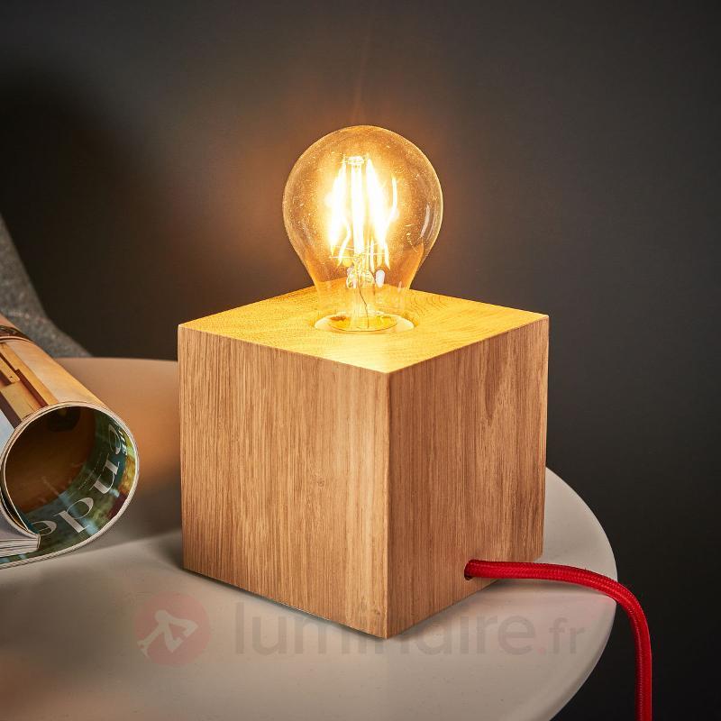 Lampe Poser Trongo Cubique En Bois De Ch Ne Lampes Poser En  # Bois De Chene