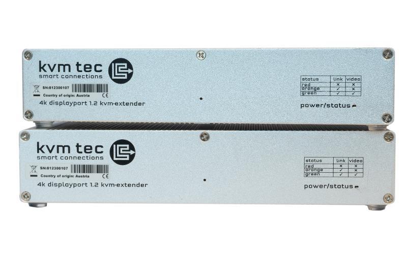 4K Ultraline DP1.2 single in fiber - 4K Ultraline DP1.2 KVM Extender over IP