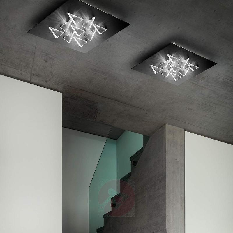Sparkling LED ceiling light Cristalli, black - Ceiling Lights