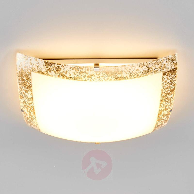 Mirella - LED ceiling light with a gold border - Ceiling Lights