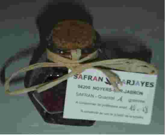 1  gramme de safran
