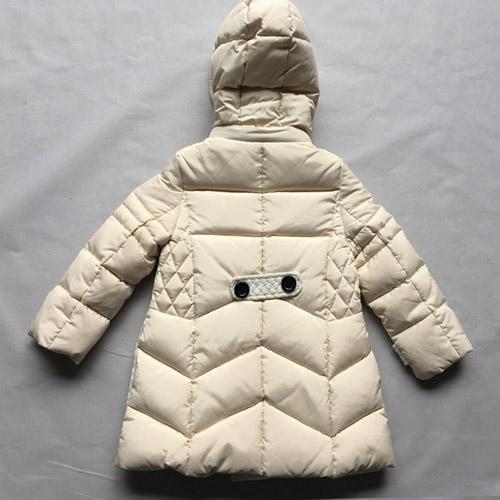 Kids' down coat Girls' cream-colored long-sleeve children -