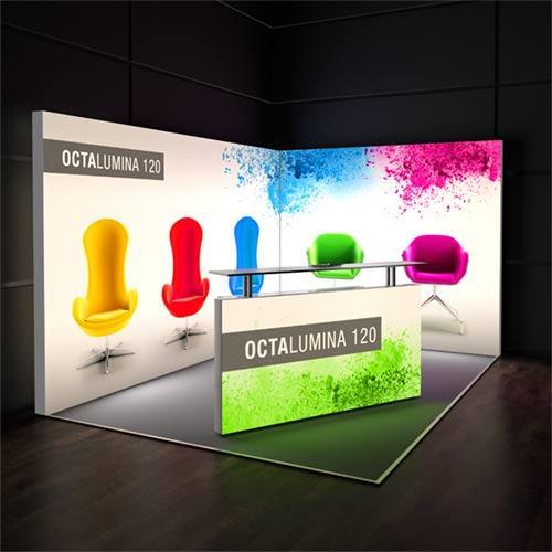 OctaLumina - Cajas de luz con tela y leds