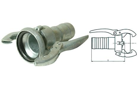 Kardan couplings - Kardan female adapter with crimped hose nozzle I galvanised